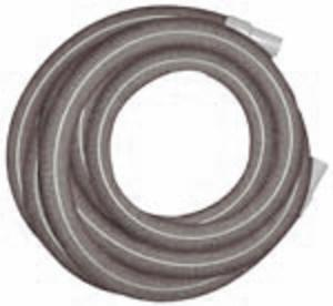 "Heavy Duty Vacuum Hose  1.5"" x 25' - Gray - With Cuffs"