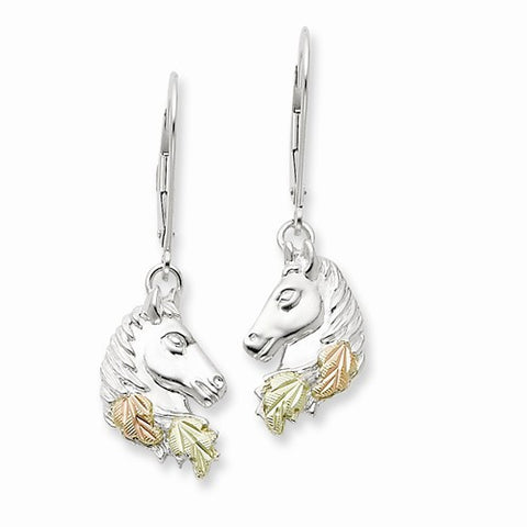 12K Horsehead Earrings