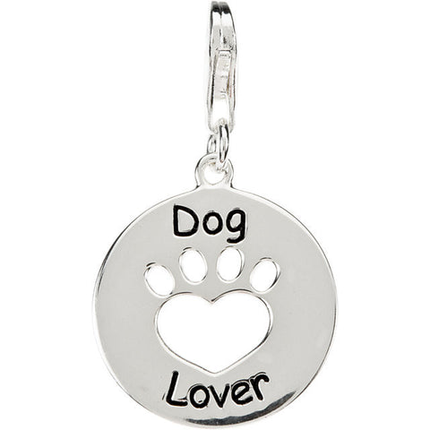 Dog Lover Paw Charm With Chain