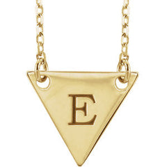 14K Rose Engravable Geometric Necklace