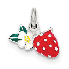 Sterling Silver Flower & Strawberry Pendant