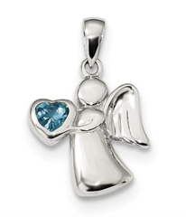 Sterling Silver Angel  Available In All Birthstones