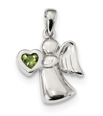 Sterling Silver Angel W/Birthstones