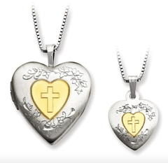 Sterling Silver & Gold Plated Locket