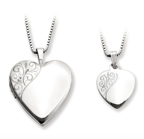 Sterling Silver Heart Locket W/Chain