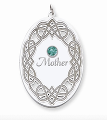 Sterling Silver Family Pendant - 1 to 3 Gemstones