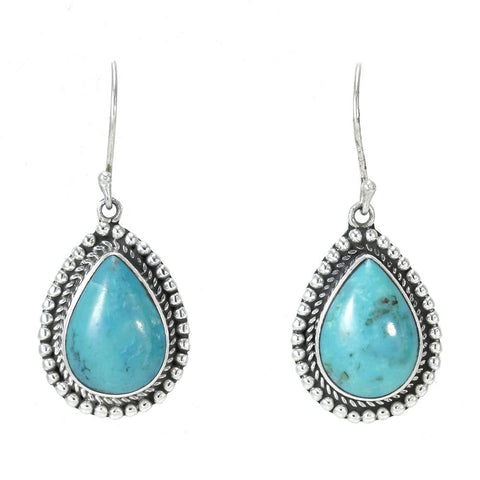 Pear-shaped Turquoise Earrings