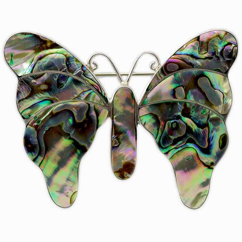 Butterfly Abalone Shell Pin