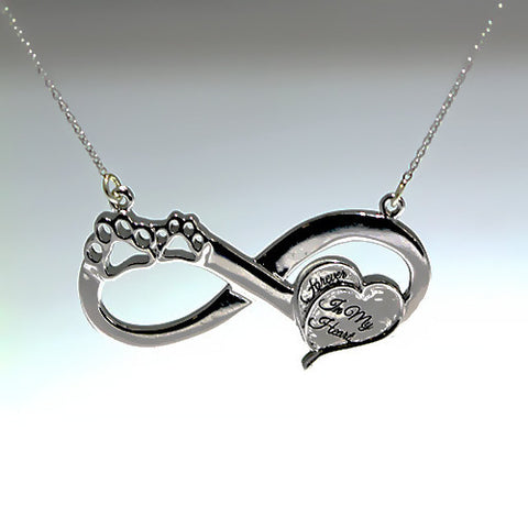 Sterling Silver Eternity Remembrance Necklace