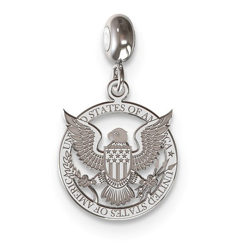Sterling Silver American Seal Charm