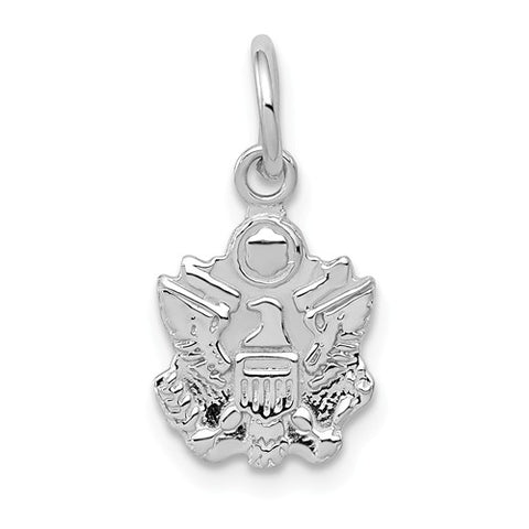 14k White Gold U.S. Army Insignia
