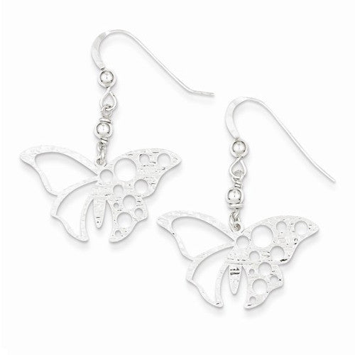 Textured Butterfly Dangle Earrings