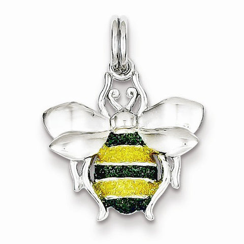 Green & Yellow Enamel Bee Charm