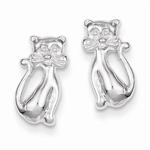 Cat with Whiskers Stud Earrings