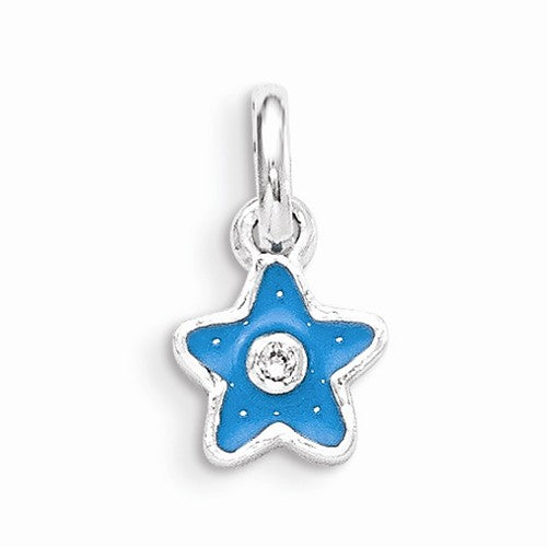 Sterling Silver Blue Star Pendant