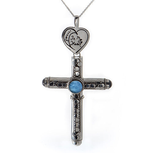 Cross W/ Gemstones Pendant & Chain