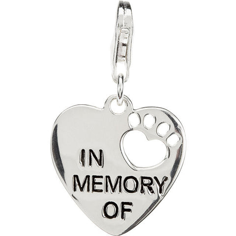 In Memory Of Paw Charm With Chain