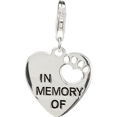 """In Memory Of"" Charm W/Chain"