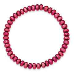 Cultured 6-8mm Peach Stretch Bracelet