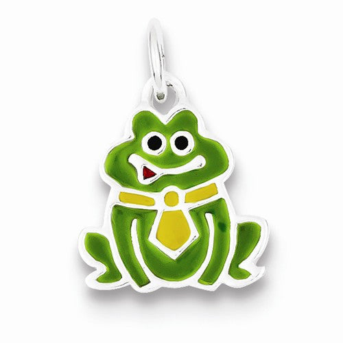 Frog Wearing A Tie Charm