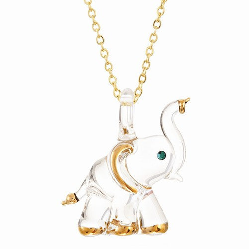 Glass Elephant Necklace