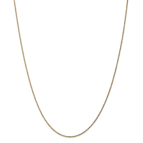 14k 1.15mm Machine-Made Rope Chain
