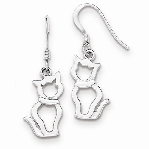 Outlined Cat Earrings