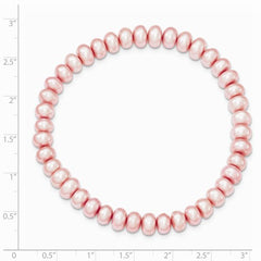 FW Cultured 6-7mm Pearl Rose Stretch Bracelet