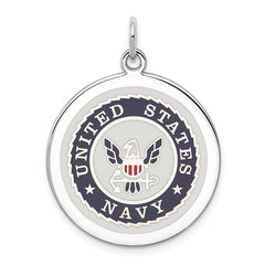 Sterling Silver US Navy Disc
