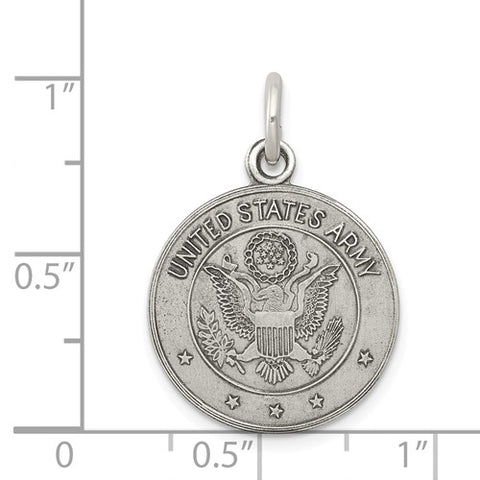 Sterling Silver US Army Medal
