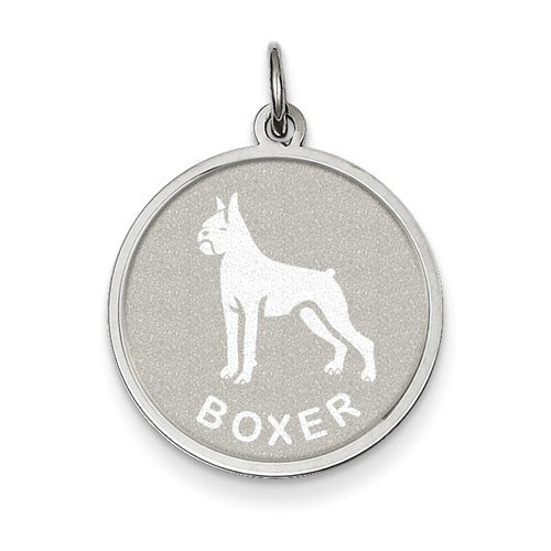 Sterling Silver Boxer Disc Charm