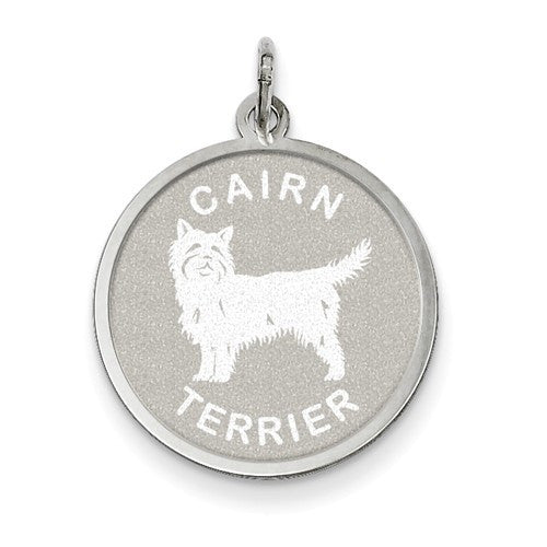 Sterling Silver Cairn Terrier Charm