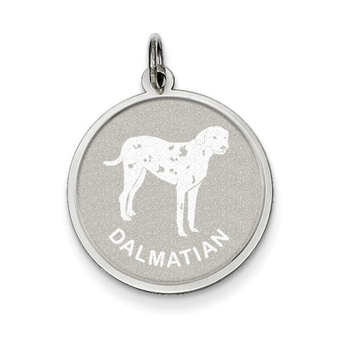 Sterling Silver Dalmatian Disc Charm