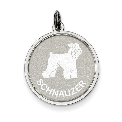 Sterling Silver Schnauzer Disc Charm