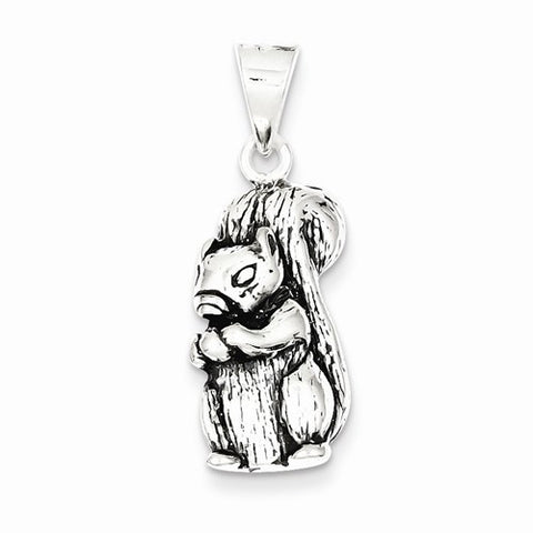 Sterling Silver Antiqued Squirrel Charm