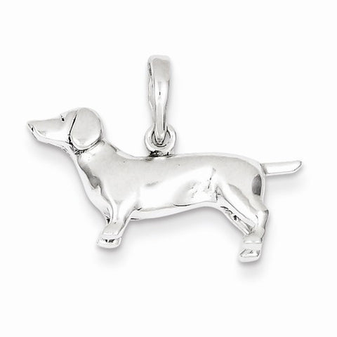 Sterling Silver Dachshund Pendant