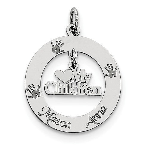 Sterling Silver Personalizable My Children Charm