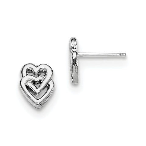 Sterling Silver Heart Mini Earrings