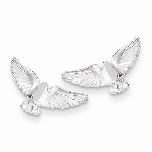 Sterling Silver Bird Mini Earrings