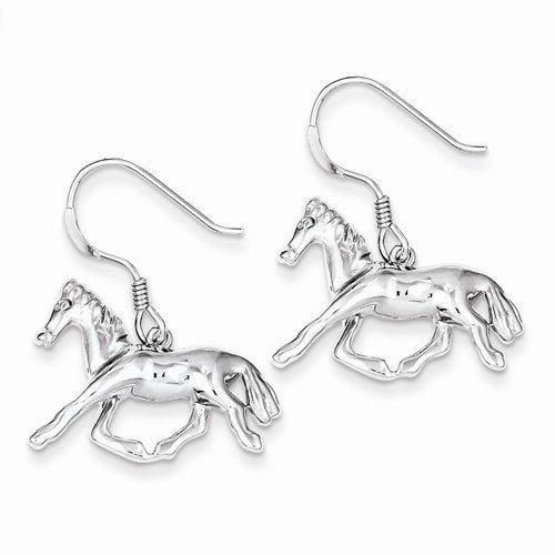 Sterling Silver Horse Dangle Earrings