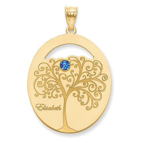 Gold Plated Sterling Silver Family Pendant