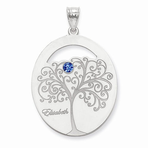 Sterling Silver Crystal Family Pendant