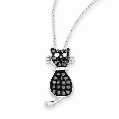 Stellux Crystal Cat Necklace