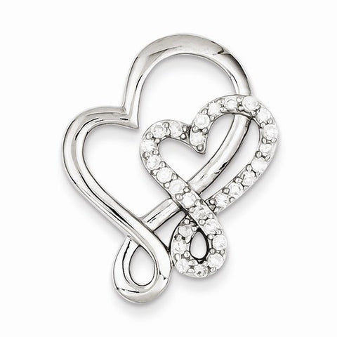 Sterling Silver Double Heart Pendant