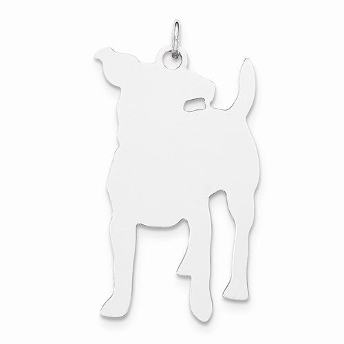Engraveable Medium Happy Dog Disc Charm