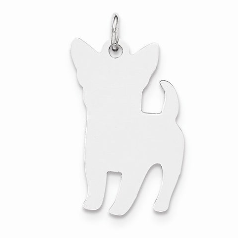 Small Perky Dog Disc Charm