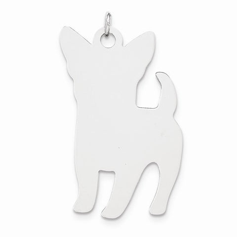 SS Toni Tails Engraveable Large Perky Dog Disc Charm