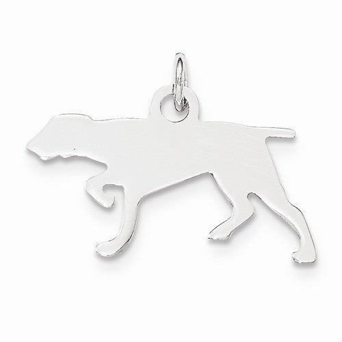 SS Toni Tails Engraveable Small Pointer Disc Charm