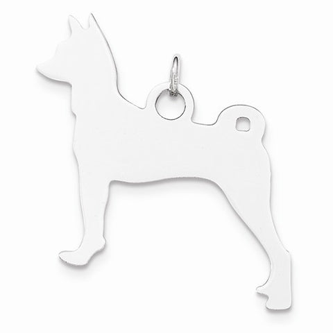 SS Toni Tails Engraveable Medium Basenji Disc Charm
