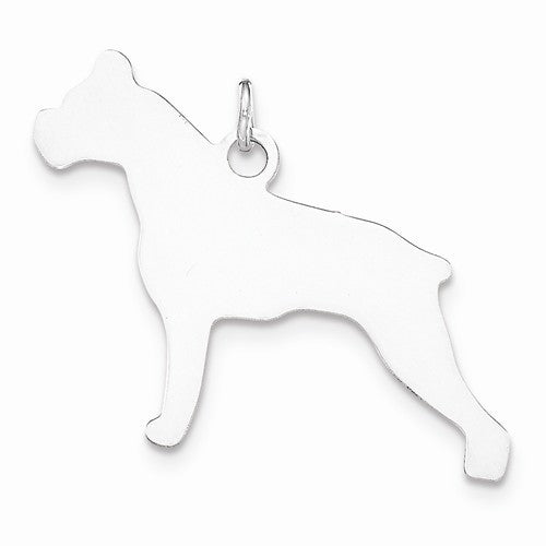 SS Toni Tails Engraveable Small Boxer Disc Charm